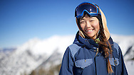 Chloe Kim portrait at the top of Copper Mountain in Copper Mountain, CO. ©Brett Wilhelm/ESPN