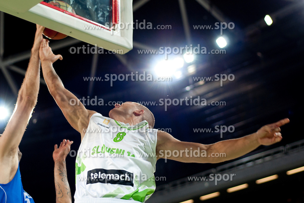 Edo Muric of Slovenia during friendly basketball match between National teams of Slovenia and Bosnia i Hercegovina of Adecco Ex-Yu Cup 2012 as part of exhibition games 2012, on August 3rd, 2012, in Arena Stozice, Ljubljana, Slovenia. (Photo by Urban Urbanc / Sportida)