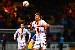 Chris Taylor of Bradford City heads the ball - Mandatory by-line: Ryan Crockett/JMP - 25/01/2020 - FOOTBALL - One Call Stadium - Mansfield, England - Mansfield Town v Bradford City - Sky Bet League Two