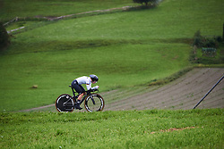 Hannah Ludwig (GER) at UCI Road World Championships 2018 - Junior Women's ITT, a 19.8 km individual time trial in Innsbruck, Austria on September 24, 2018. Photo by Sean Robinson/velofocus.com