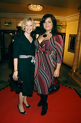 Left to right, JOANNA PAGE  and RUTH JONES at the South Bank Show Awards held at The Dorchester, Park Lane, London on 29th January 2008.<br />