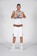 September 28, 2016: Michael Gilmore #12 poses during  Miami Hurricanes Men's Basketball Photo Day in Coral Gables, Florida.