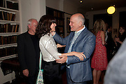 David Gilmour; Bella Freud; John Malkovich, Freud Museum dinner, Maresfield Gardens. 16 June 2011. <br /> <br />  , -DO NOT ARCHIVE-© Copyright Photograph by Dafydd Jones. 248 Clapham Rd. London SW9 0PZ. Tel 0207 820 0771. www.dafjones.com.