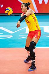 19-10-2018 JPN: Semi Final World Championship Volleyball Women day 18, Yokohama<br /> China - Italy / Changning Zhang #9 of China