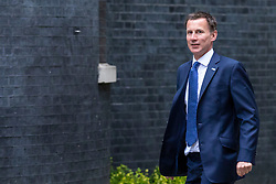 © Licensed to London News Pictures. 05/06/2018. London, UK. Secretary of State for Health and Social Care Jeremy Hunt arrives on Downing Street for the Cabinet meeting. Photo credit: Rob Pinney/LNP