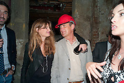 JEMIMA KHAN; A.A. GILL, Early launch of Rupert's. Robin Birley  new premises in Shepherd Market. 6 Hertford St. London. 10 June 2010. .-DO NOT ARCHIVE-© Copyright Photograph by Dafydd Jones. 248 Clapham Rd. London SW9 0PZ. Tel 0207 820 0771. www.dafjones.com.