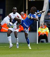 Photo: Steve Bond/Richard Lane Photography. Leicester City v Carlisle United. Coca Cola League One. 04/04/2009. Max Gradel struggles to control the ball