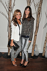 Left to right, ZOE HARDMAN and LAURA JACKSON at a party to celebrate the launch of the Casio Tokyo watch in association with Flashtrash.com held at itsu, 10a Blandford Road, London W1 on 28th January 2013.