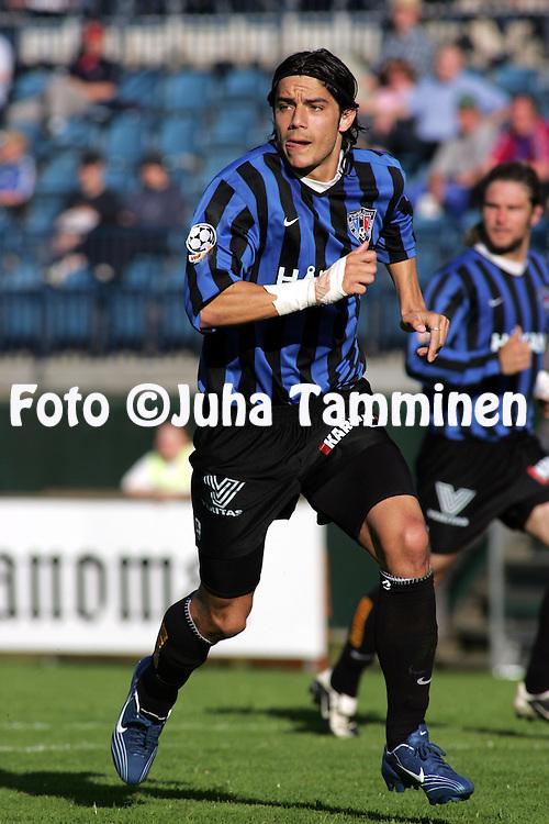 23.06.2004, Veritas Stadion, Turku, Finland..Veikkausliiga 2004 / Finnish League 2004.FC Inter Turku v AC Allianssi.Luciano çlvarez - Inter.©Juha Tamminen.....ARK:k