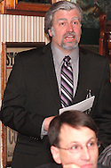 "Jerry Francis as George Suttman during Mayhem & Mystery's production of ""Newsworthy Nemesis"" at the Spaghetti Warehouse in downtown Dayton, Friday, March 9, 2012."