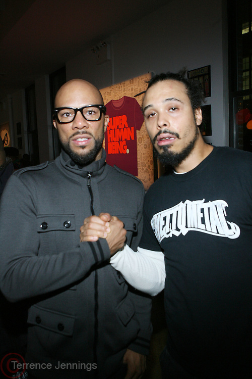 l to r: Common and Bazaar Royale at the Common Celebration for the Capsule Line Launch with Softwear by Microsoft at Skylight Studios on December 3, 2008 in New York City..Microsoft celebrates the launch of a limited-edition capsule collection of SOFTWEAR by Microsoft graphic tees designed by Common. The t-shirt  designs. inspired by the 1980's when both Microsoft and and Hip Hop really came of age, include iconography that depicts shared principles of the technology company and the Hip Hop Star.