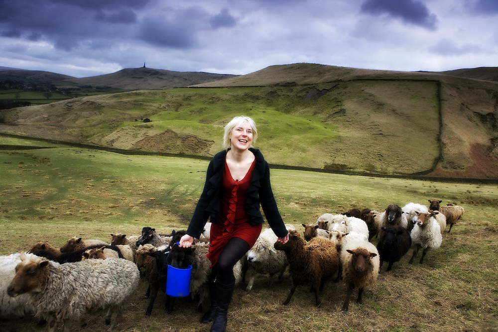 Beate - owner Makepiece - rears & shears sheep and makes designer garments in Hebden Bridge