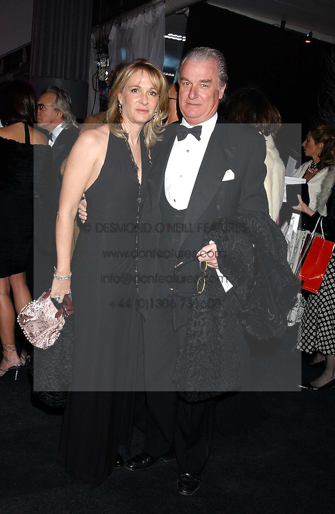 LORD &amp; LADY BELL at the Conservative Party's Black &amp; White Ball held at Old Billingsgate, 16 Lower Thames Street, London EC3 on 8th February 2006.<br />