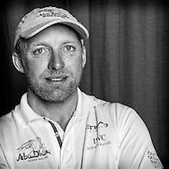 PORTUGAL, Lisbon. 31st May 2012. Volvo Ocean Race, Leg 7 (Miami-Lisbon) finish. Justin Slattery, Bowman, Abu Dhabi Ocean Racing.