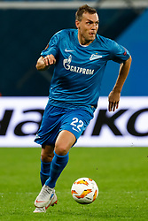 October 4, 2018 - Saint Petersburg, Russia - Artem Dzyuba of FC Zenit Saint Petersburg in action during the Group C match of the UEFA Europa League between FC Zenit Saint Petersburg and SK Sparta Prague at Saint Petersburg Stadium on October 4, 2018 in Saint Petersburg, Russia. (Credit Image: © Mike Kireev/NurPhoto/ZUMA Press)