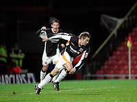 Photo: Marc Atkins.<br />Watford v Hull City. Carling Cup. 24/10/2006.<br />Nicky Barmby celebrates scoring for Hul City.