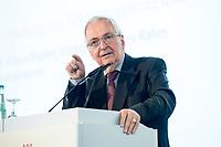 27 JUN 2017, BERLIN/GERMANY:<br /> Prof. Dr. Klaus Toepfer, Vorsitzender des Rates AGORA Energiewende und Bundsminister a.D., 25. bbh-Energiekonferenz &quot;Letzte Ausfahrt Dekarbonisierungf Energie- und Mobilit&auml;tswende&quot;, Franz&ouml;sischer Dom<br /> IMAGE: 20170627-01-256<br /> KEYWORDS: Klaus T&ouml;pfer