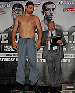 Picture by Alan Stanford/Focus Images Ltd +44 7915 056117<br />04/10/2013<br />Emanuele Leo pictured during Matchroom Sports weigh in at The O2 Arena, London.