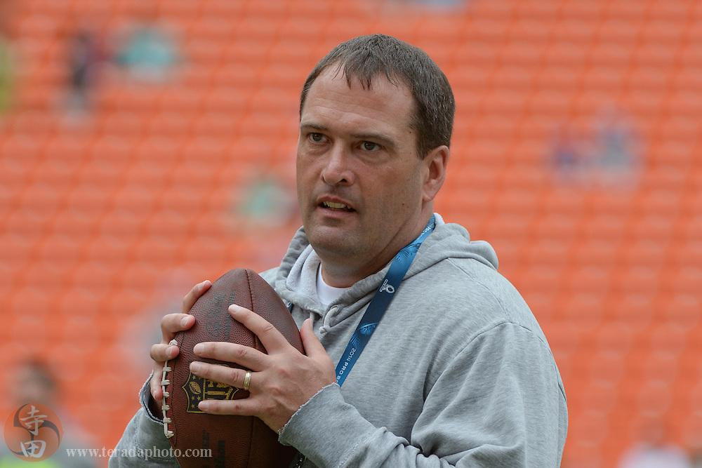 January 26, 2014; Honolulu, HI, USA; Indianapolis Colts special teams coordinator Tom McMahon before the 2014 Pro Bowl at Aloha Stadium.