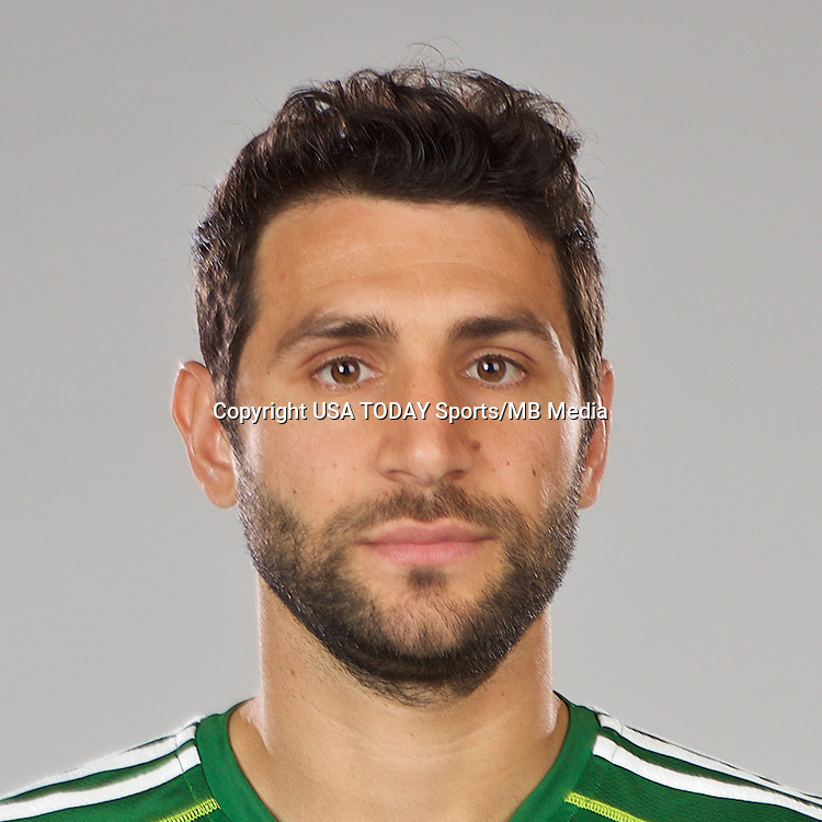 Feb 25, 2016; USA; Portland Timbers player Diego Valeri poses for a photo. Mandatory Credit: USA TODAY Sports