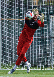 SOUTH BEND, INDIANA, USA - Thursday, July 18, 2019: Liverpool's goalkeeper Andy Lonergan during a training session ahead of the friendly match against Borussia Dortmund at the Notre Dame Stadium on day three of the club's pre-season tour of America. (Pic by David Rawcliffe/Propaganda)