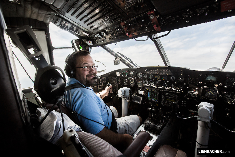 Phillip Artweger is the pilot in command in a Shorts SC7 Skyvan, better known as the Pink Skyvan in Klatovy