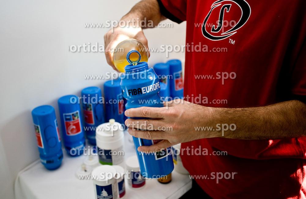 Drink of Slovenian team in a Andel's Hotel during Eurobasket 2009, on September 15, 2009 in  Lodz, Poland.  (Photo by Vid Ponikvar / Sportida)
