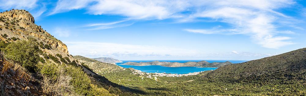 Kolokytha Island in Elounda Bay in Lassithi Crete, Greece.