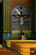 Castelo_ES, Brasil...Interior da igreja Matriz Nossa Senhora da Penha em Castelo. Na foto uma mulher rezando...Inside of Mother church Nossa Senhora da Penha in Castelo. In this photo a woman praying...Foto: LEO DRUMOND / NITRO