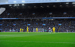 Only a few seats remain empty in the Holte end at Villa Park in the opening few minutes of the game  - Photo mandatory by-line: Joe Meredith/JMP - Mobile: 07966 386802 - 17/01/2015 - SPORT - Football - Birmingham - Villa Park - Aston Villa v Liverpool - Barclays Premier League