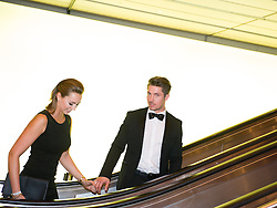 29.10.2015, Austria Center Vienna, Wien, AUT, Lotterien-Gala, Nacht des Sports 2015, im Bild Marcel Hirscher mit Freundin Laura // Austrian Skier Marcel Hirscher with girlfriend Laura during Lotterien galanight of sports 2015 at Austria Center in Vienna on 2015/10/29, EXPA Pictures © 2015 PhotoCredit: EXPA/ Michael Gruber