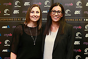 Netball NZ CEO Jennie Wyllie (L) with Noeline Taurua who is announced as the new coach of the New Zealand Silver Ferns national netball team. Netball NZ offices, Auckland. 30 August 2018. Copyright Image: William Booth / www.photosport.nz