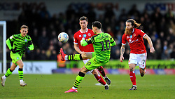 Aaron Collins of Forest Green Rovers controls the ball- Mandatory by-line: Nizaam Jones/JMP - 08/02/2020 - FOOTBALL - New Lawn Stadium - Nailsworth, England - Forest Green Rovers v Walsall - Sky Bet League Two