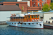 'The Grace Anne' or 'Lady of the Lake' luxury wooden yach on Lake of the Woods<br />