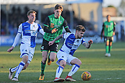 Bristol Rovers Dominic Telford (18) on the ball during the EFL Sky Bet League 1 match between Bristol Rovers and Scunthorpe United at the Memorial Stadium, Bristol, England on 24 February 2018. Picture by Gary Learmonth.