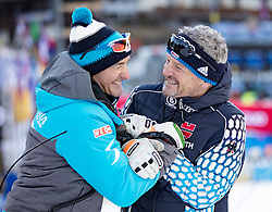 22.12.2016, Canalone Miramonti Rennstrecke, Madonna di Campiglio, ITA, FIS Ski Weltcup, Madonna di Campiglio, Slalom, Herren, Streckenbesichtigung, im Bild Andreas Puelacher (Sportlicher Leiter ÖSV Ski Alpin Herren), Mathias Berthold (DSV Bundestrainer Herren) // Andreas Puelacher Austrian Ski Association head Coach alpine Men's, Mathias Berthold DSV head coach coach Men during course inspection for the men's Slalom of FIS ski alpine world cup at the Canalone Miramonti race course in Madonna di Campiglio, Italy on 2016/12/22. EXPA Pictures © 2016, PhotoCredit: EXPA/ Johann Groder