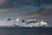 Rock formation along the Lemaire channel, Antarctica.