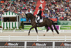 Charlotte Dujardin, (GBR), Valegro - Dressage Kur to Music- Alltech FEI World Equestrian Games™ 2014 - Normandy, France.<br /> © Hippo Foto Team - Dirk Caremans<br /> 25/06/14