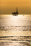 Offshore Oil Platform off the coast of Huntington Beach California