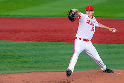 NORMAL, IL - May 01: Brent Headrick during a college baseball game between the ISU Redbirds and the Indiana State Sycamores on May 01 2019 at Duffy Bass Field in Normal, IL. (Photo by Alan Look)