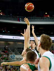 Erazem Lorbek of Slovenia during friendly match before Eurobasket Lithuania 2011 between National teams of Slovenia and Lithuania, on August 24, 2011, in Arena Stozice, Ljubljana, Slovenia. Slovenia defeated Lithuania 88-66. (Photo by Vid Ponikvar / Sportida)