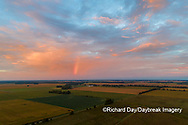63893-03616 Sunrise and rainbow aerial view Marion Co. IL