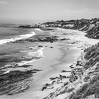 Laguna Beach CA Black and White Photography at Crystal Cove State Park. Crystal Cove is located along the Pacific Ocean in Laguna Beach and Newport Beach in Southern California. Copyright © 2012 Paul Velgos with All Rights Reserved.