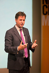 Deputy Prime Minister Nick Clegg at a Q&A session at Robinson College,Cambridge, Thursday September 13, 2012. Photo By  Tim Scrivener/ i-images