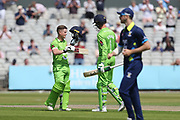 100 for Lanc's Alex Davies (Wicket Keeper) during the Specsavers County Champ Div 1 match between Lancashire County Cricket Club and Durham County Cricket Club at the Emirates, Old Trafford, Manchester, United Kingdom on 20 May 2018. Picture by George Franks.
