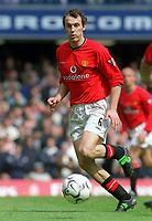 Fotball. Premier League. 20.04.2002.<br /> Chelsea v Manchester United.<br /> Laurent Blanc, Manchester United.<br /> Foto: Andrew Cowie, Digitalsport