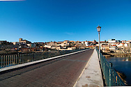 View of the city of Zamora and the bridge over Douro river.
