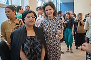 H.E. SHEIKHA HOOR AL-QUSIMI; MOLLIE DENT-BROCKLEHURST Yto Barrada opening. Pace London Soho. Lexington St. and afterwards at La Bodega Negra. Old Compton St. 23 May 2012.