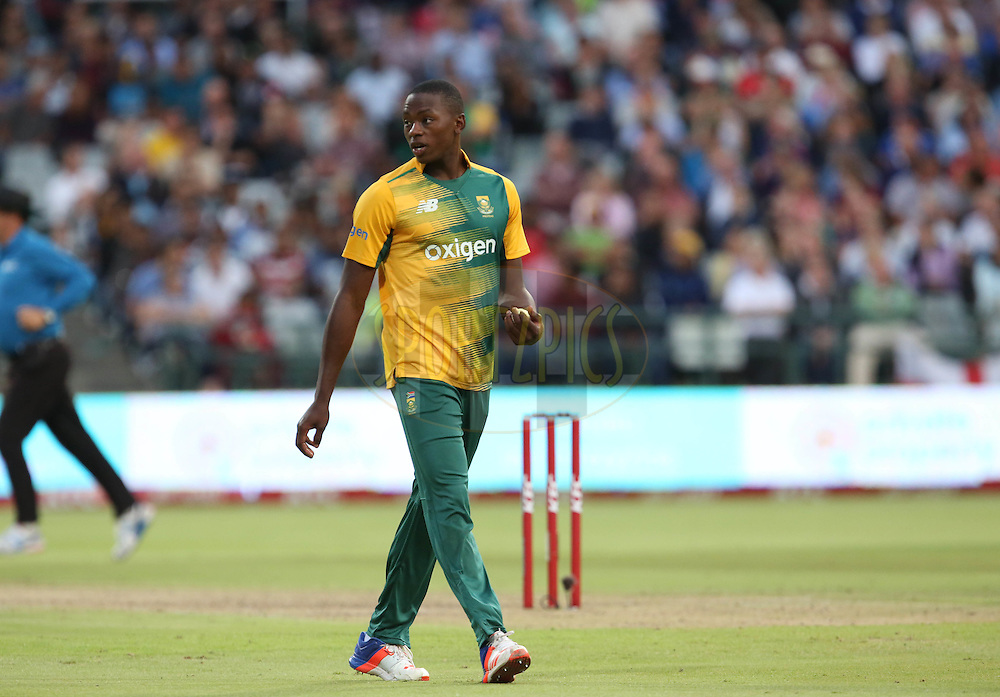 Kagiso Rabanda during the First KFC T20 Match between South Africa and England played at Newlands Stadium, Cape Town, South Africa on February 19th 2016