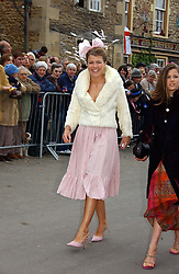 AMBER NUTTALL at the wedding of Laura Parker Bowles to Harry Lopes held at Lacock, Wiltshire on 6th May 2006.<br />
